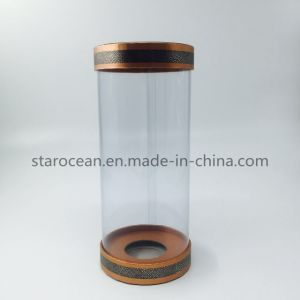 Cylinder Wine Box Clear Plastic PVC Box with Lid pictures & photos