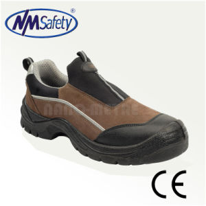 Nmsafety Leather Upper Composite Toecap Safety Shoes pictures & photos