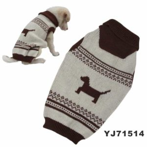 Handmade Pattern Dog Sweater (YJ71514) pictures & photos