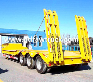 80t-100t Low Flatbed/Lowboy Semi Truck Trailer (HTC9406TDP) pictures & photos