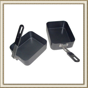 Non-Stick Camping Cookware Set Lunch Box (CL2C-DJG1813-2B) pictures & photos
