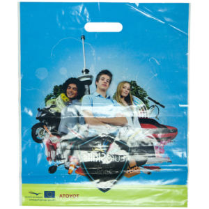 100% Virgin LDPE Recyclable Printed Pouch Hole Bags for Garments (FLD-8578) pictures & photos