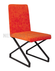 Modern Cheap Fashion Steel Foot Fabric Dining Chair (NK-DC058)