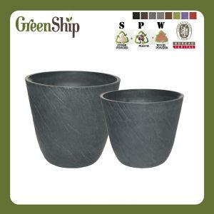 Stone Look Garden Decorative Round Flower Pot