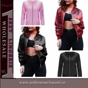2016 New Design Fashion Women Sports Wear Bomber Jacket (TMK5340) pictures & photos