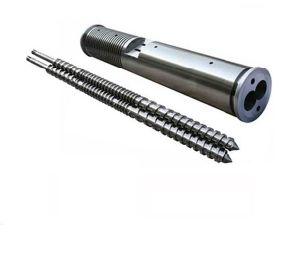 Sjz-65/132 Conical Double Screw Extruder /Bimetallic Double Screw and Barrel pictures & photos