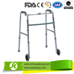 Foldable & Height Adjustable Frame Walker (CE/FDA/ISO) pictures & photos