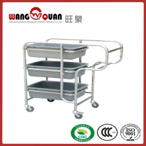 Factory Directly Stainless Steel Chaff Collection Trolley pictures & photos