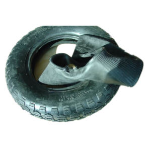 350-8 Nylon Tire& Tube for Wheelbarrow with Flower Pattern