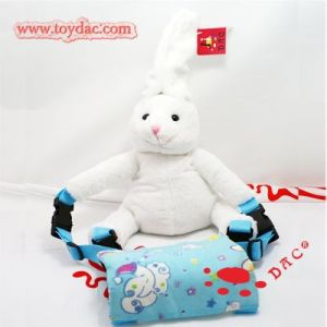 Plush White Rabbit Toy Rabbit Bag pictures & photos