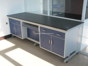 High Quality Wood Wall Lab Bench with Frame Laboratory Furniture (JH-WF004) pictures & photos