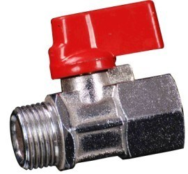 Polishing Chromed Forged Brass Mini Ball Valve (YED-A1049)