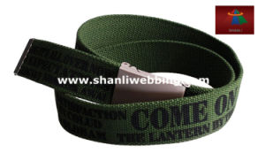 Customized Hot Sale Unisex Fabric Spunpolyester Printed Webbing Belt pictures & photos