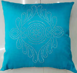 Hand-Made Decorative Pillow Diamond Ironing Decorative Cushion (XPL-58) pictures & photos