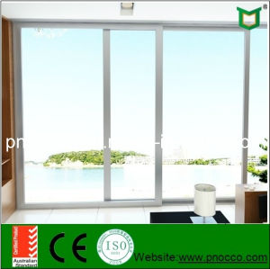 Tempered Glass Australian Standard Aluminum Sliding French Door (PNOCSLD0014) pictures & photos