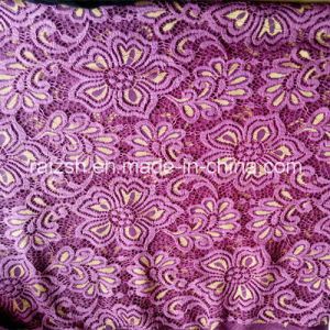 N/T Golden and Mauve Bicolors Lace Fabric for Ladies Fashion pictures & photos