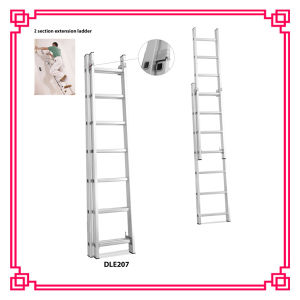 2 Section Aluminum Extension Ladder with 7 Step pictures & photos