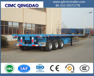 Cimc 3 Axle 40FT Flatbed Container Semi Truck Trailer pictures & photos
