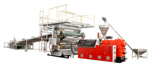 PVC/PP/PE/PS Extrusion Extruder Sheet Production Line-Plastic Sheet Making Extrusion pictures & photos