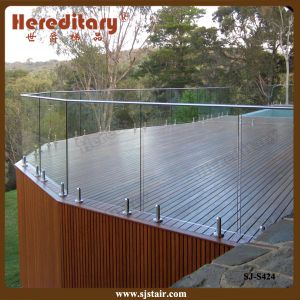 Frameless Glass Railing System for Outdoor Deck (SJ-S425) pictures & photos