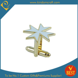 Personalized Star Shape Metal Cufflink for Sale pictures & photos