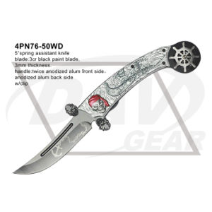 """5"""" Closed Folding Fantasy Knife with Twice Anodized (white&white) pictures & photos"""