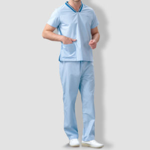 2016 New Unisex Cheaper Short Sleeve Scrub Suit Medical Staff Uniforms with Pants pictures & photos
