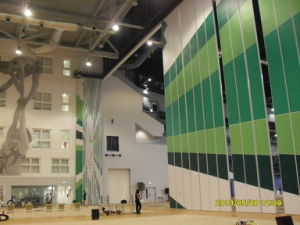 High Movable Partition Wall for Multi-Purpose Hall/Stadium/Music Hall/Gymnasium pictures & photos