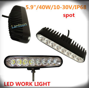 "5.9"" 40W Cheap LED Light Bars, DC10~30V Spot 50000hours Lifetime IP68 Work Light for Truck pictures & photos"