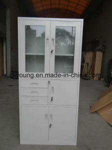 Modern High Quality Metal Office File Cabinet with Glass Door pictures & photos