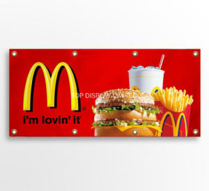 Outdoor Indoor Advertising PVC Frontlit Flex Mesh Canvas Banner pictures & photos