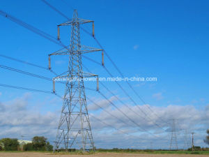 Double Circuits Lattice Transmission Steel Tower
