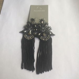 Black Lace Fabric/Cotton Earring Metal Tassel Jewelry pictures & photos