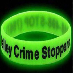 Factory Supply Custom Logo Glow Wristband for Event pictures & photos