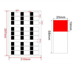 Wrap Around Wire Cable Labels in A4 Sheet, Laser Printing Cable Sticker Labeling