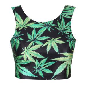 Ladies Sexy Marijuana Pot Weed Dope Summer Tank Top (JP-2015T242) pictures & photos