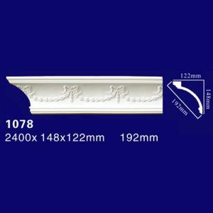 1078 Elegant Style Home Decorative Polyurethane Cornice for Warmly Home
