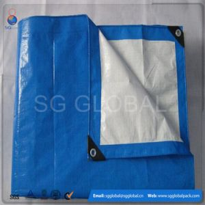 Waterproof PE Woven Tarpaulin Sheet with Eyelets pictures & photos
