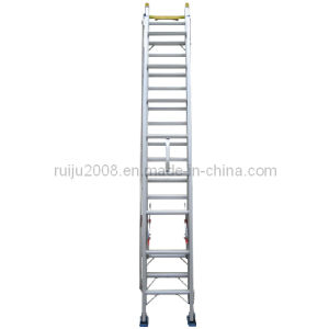 Single Eextension Aluminum Ladder for Outdoor Work pictures & photos