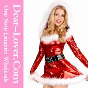 2016 Fancy Red PU Christmas Dance Costume pictures & photos