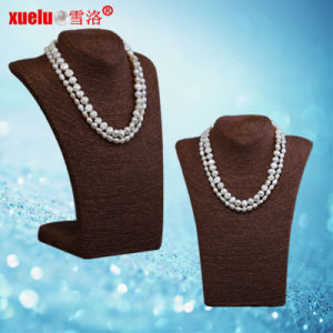 Latest Double Natural Baroque Freshwater Pearl Necklace Jewelry (E130114) pictures & photos