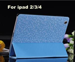 Diamond Texture Shining 3 Folded PU iPad Case for iPad 2/3/4
