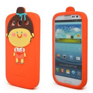 Momo Lovely Girl Silicone Mobile Phone Case for Samsung Galaxy