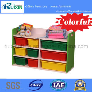 Hot Sale Wooden Kid Book Shelf /Magazine Rack/Toy Organizer (RX-E6116)
