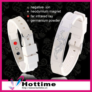 Power Silicone Wristband with Adjustable Size (CP-JS-NW-011) pictures & photos