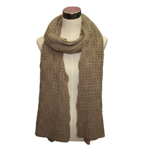 Lady Fashion Acrylic Knitted Cashmere Wool Scarf (YKY4359) pictures & photos