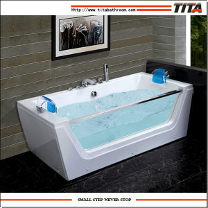 One Side Glass Bath Tub Prices Tmb054 pictures & photos