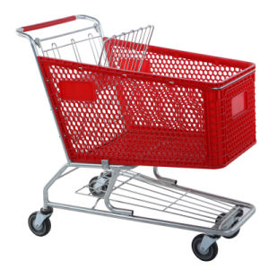 Supermarket Plastic Basket Shopping Trolley (cart) pictures & photos