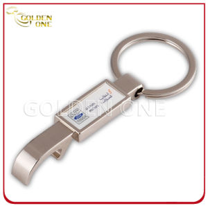 Customized Printed Nickel Plated Metal Bottle Opener Key Chain pictures & photos