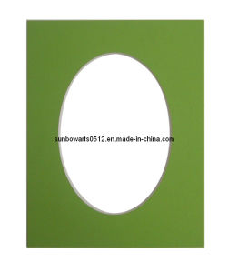 """Picture Frame- Round Opening Cream Core 11*14"""" Size Mat Acid Free"""